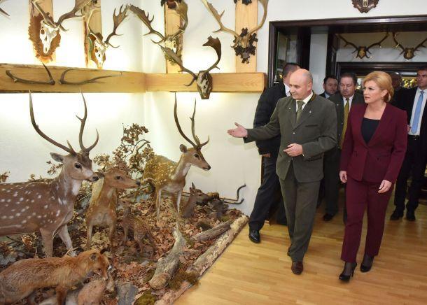 Mrtve životinje u muzeju (foto Ured predsjednice RH)