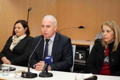 Voditeljica projekta župan Goran Pauk i predsjednica Udruge uzgajivača koza i ovaca Dalmacije, Marica Šiklić