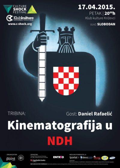 Plakat tribine na kojoj je Rafaelić govorio o svojoj knjizi