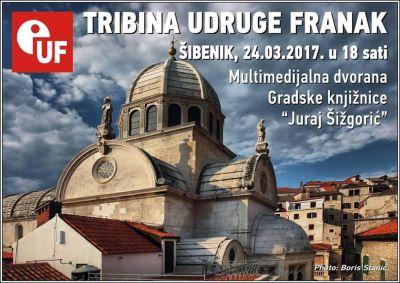 Udruga Franak Šibenik : Tribina u petak, u Gradskoj knjižnici