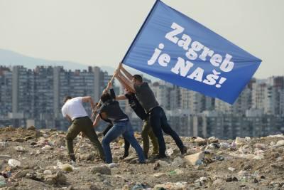 Tomašević na smetlištu s prijateljima i diže zastavu Foto: 'Zagreb je NAŠ!'