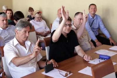 HDZ-u su većinu osigurali vijećnici SDSS-a Mirko Vojnović, Sanja Kosijer i Dragan Vukmirović (Foto: Tris/H. Pavić)