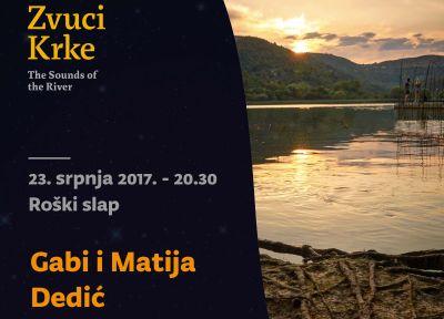 Na Roškome slapu majka i sin: Gabi Novak i Matija Dedić
