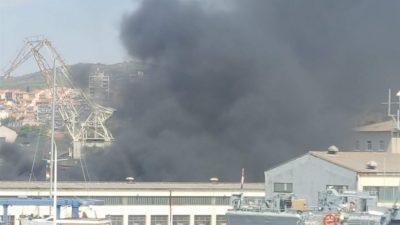 Požar u NCP-u Šibenik, nova nevolja nakon stečaja