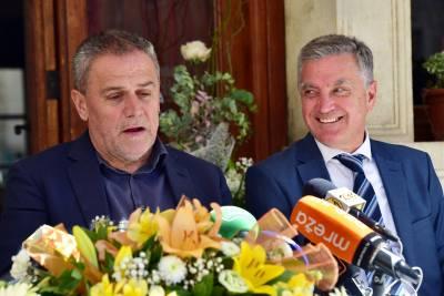 Dva gradonačelnika: Bandić i Burić (Foto: ŠibenikIN)