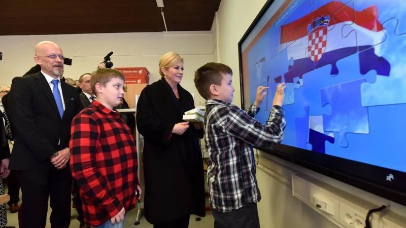 Virtualna slagalica državnoga stijega pomaže obrazovanju - foto Facebook /predsjednica.hr