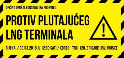 Plakat za prosvjed protiv LNG terminala