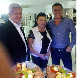 Todorić, vlasnica salona i Mamić, prije nego ih rastaviše (foto Facebook)