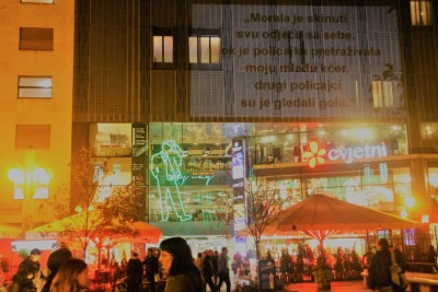 Inicijativa Dobrodošli!: Akcija projiciranja svjedočanstava izbjeglica u javnom prostoru