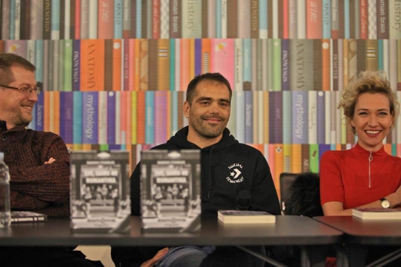 Luka Tralić Shot, Marko Podrug i Mirela Priselac Remi na promociji biografije grupe Elemental na Interliberu (Foto: Mario Ćužić)