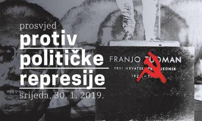 Prosvjed kod predsjednika: Protiv političke represije