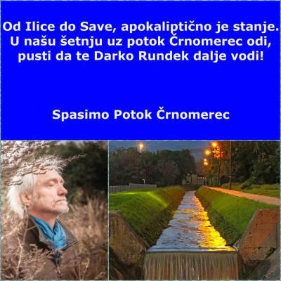 Spašavanje potoka Črnomerca: Stotine (tisuće) u šetnji s Darkom Rundekom protiv betoniranja života