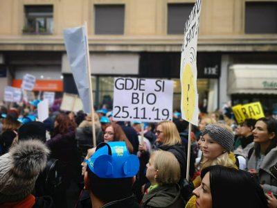 Ilustracija: s jučerašnjeg prosvjeda u Zagrebu (foto TRIS/A. Tešić)