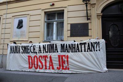 Prosvjed ispred ZG Skupštine