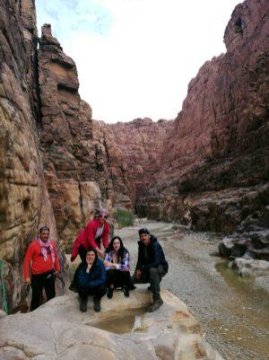 Šibenska ekipa u kanjonu Wadi Mujib (foto J. Gracin)