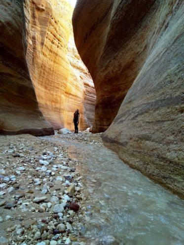 Anđela u crvenilu Wadi Numeire (foto J. Gracin)