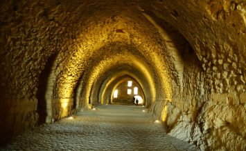 Podzemna dvorana u utvrdi Karak (foto J. Gracin)
