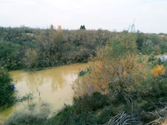 Tok rijeke Jordan nedaleko od mjesta Isusovog krštenja (foto J. Gracin)
