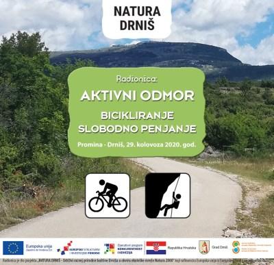 Radionica 'Aktivni odmor u Drnišu': Ne treba ni kopati ni orati, nego samo voziti bicikl i penjati se po stijeni
