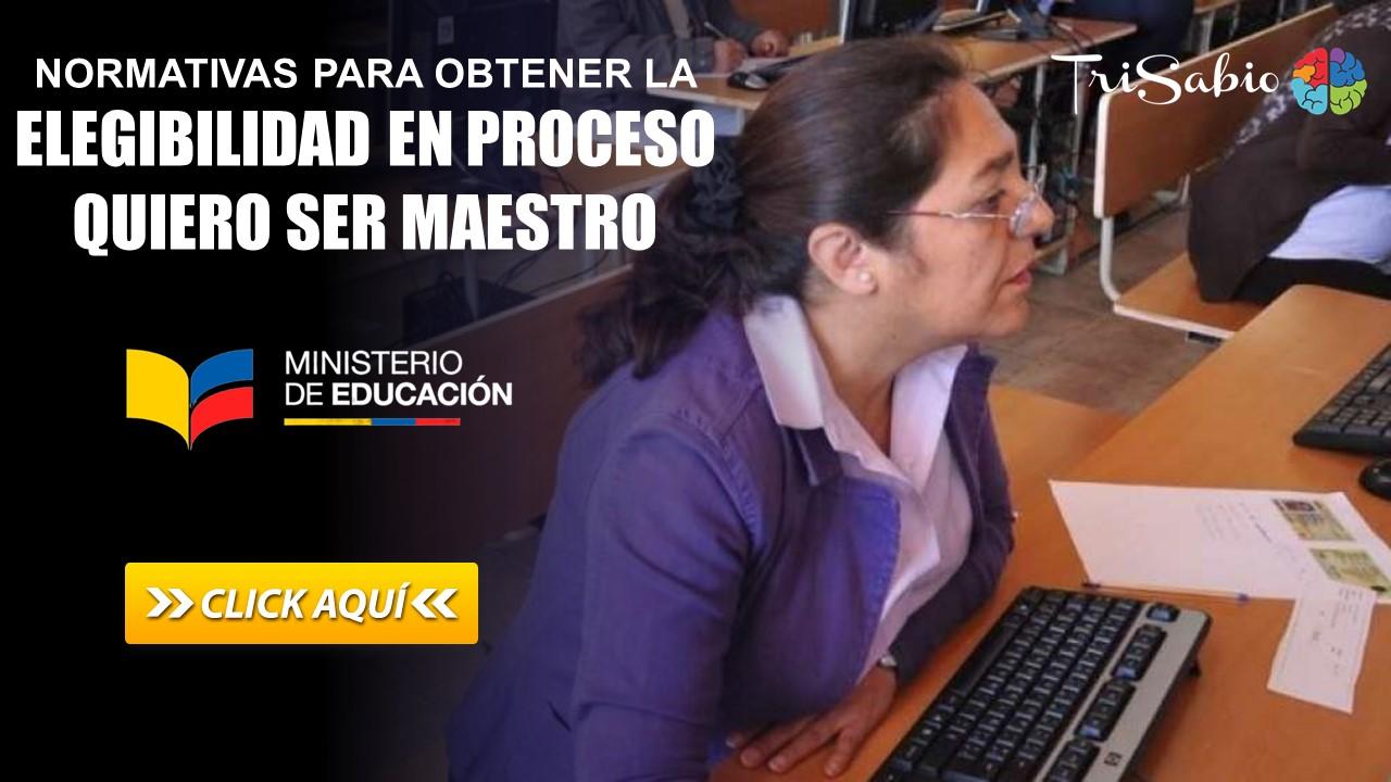 Normativas para Obtener la Elegibilidad en Proceso Quiero Ser Maestro