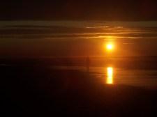 Beautiful orange of sunset on the beach on PEI.