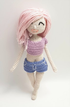 Fiber Art Craft: Female Girl Doll Base Amigurumi Crochet Doll ... | 435x287