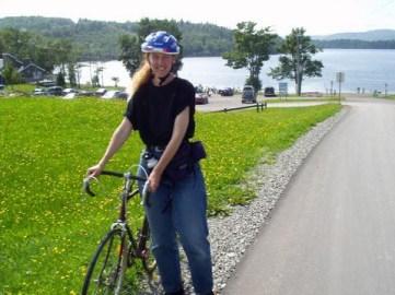 Trisha riding in New Brunswick