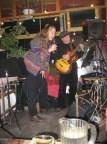 Trisha and Peter Mendieta on stage