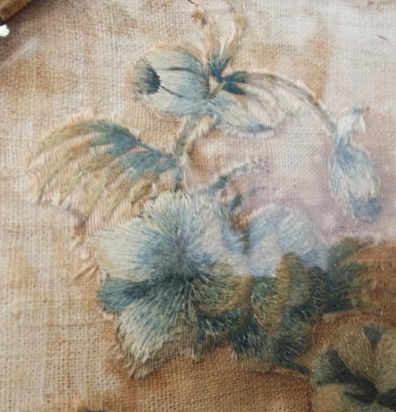 antique needle painting