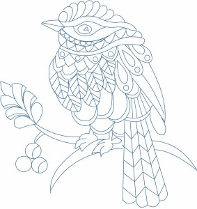 Zentangle Bird design