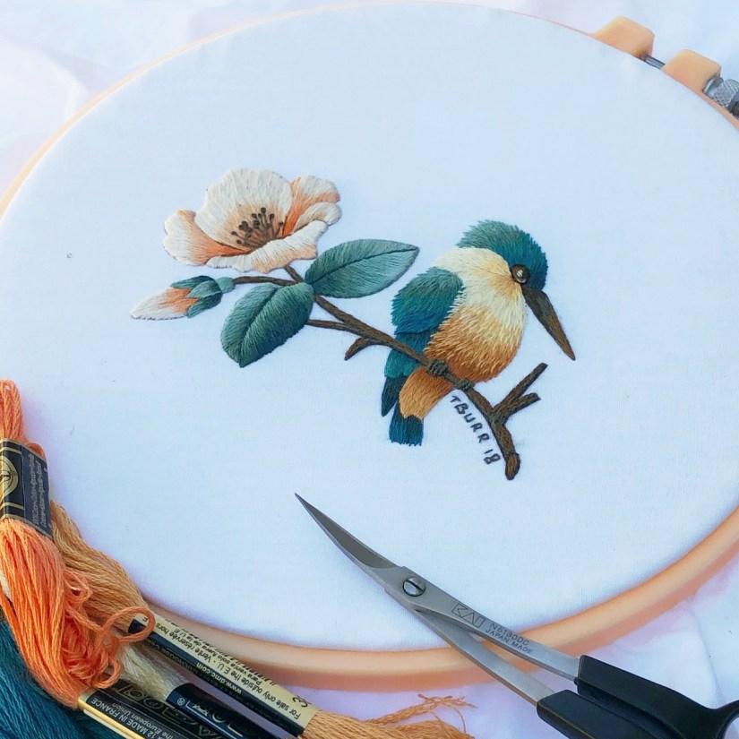 kingfisher & flower 8