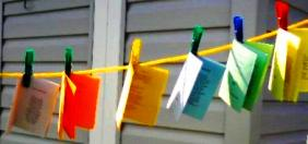 clothesline poems clipped