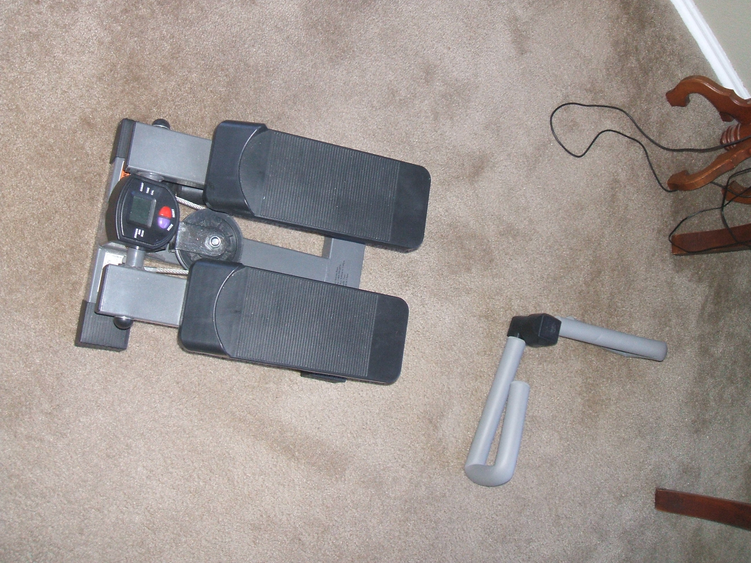 mini stairclimber and thighmaster for rainy days in Texas