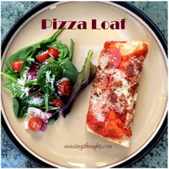 Baked Pizza Loaf by trishsutton.com