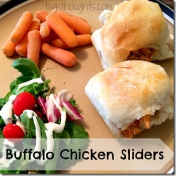 Made with Frank's Red Hot Wing Sauce Crockpot Buffalo Chicken Sliders are low in carbs and calories. Perfect for an easy dinner or when feeding a big crowd.