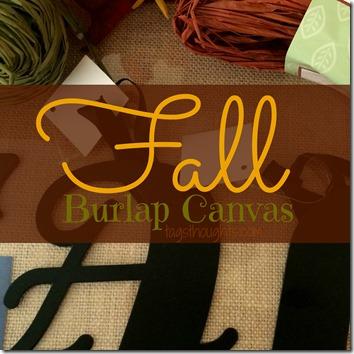 Simple Fall Burlap Canvas trishsutton.com