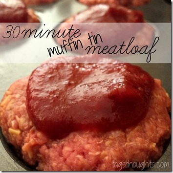 30 Minute Muffin Tin Meatloaf