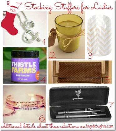 7 Stocking Stuffers for Ladies by trishsutton.com