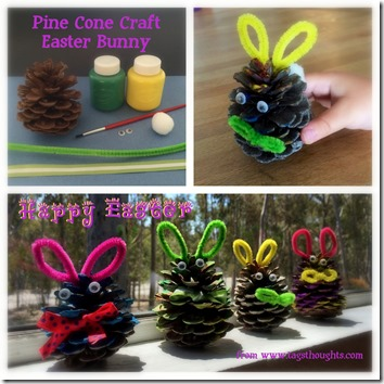 Pine Cone Easter Bunny by trishsutton.com