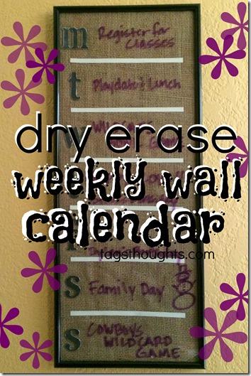 Dry Erase Weekly Wall Calendar trishsutton.com
