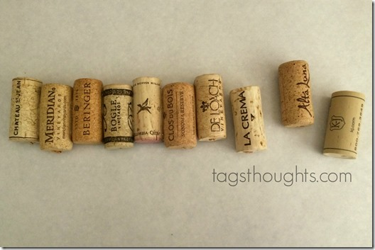 Wine cork jewelry organizer