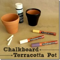 Chalk Board Terracotta Pot by trishsutton.com; A gift for Mom