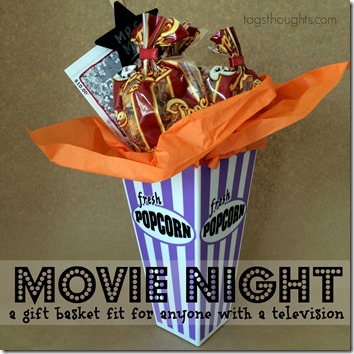 Movie Night Gift Basket by trishsutton.com