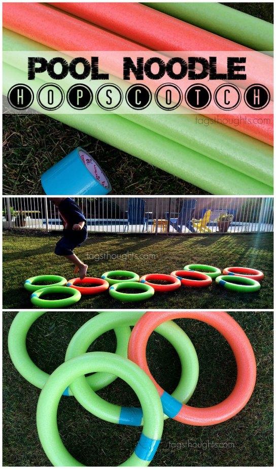 Pool Noodle Hopscotch | TagsThoughts