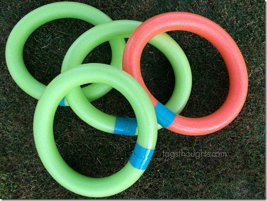 Pool Noodle Hopscotch Yard Game; Movable Game Board | trishsutton.com