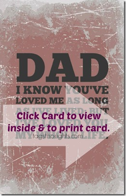Free Printable Father's Day Card by TagsThoughts.com