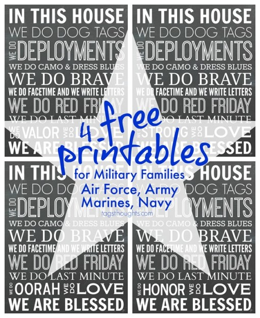 Free Printables for Military Families; In This House, TrishSutton.com