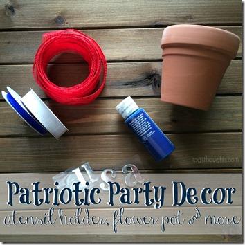 Patriotic Party Decor; Utensil Holder & More, trishsutton.com