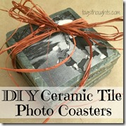 DIY Ceramic Tile Photo Coasters Gift by TagsThoughts.com