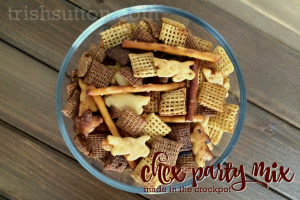 Whether it be all cereal, more crackers, less crackers or no pretzels Crockpot Chex Party Mix is made YOUR way. TrishSutton.com